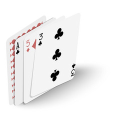 playing cards icon isometric 3d style vector image