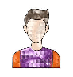 Portrait man avatar people male cartoon vector