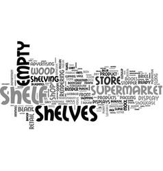 Shelf word cloud concept vector