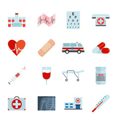 simple medical icons set universal medical icon vector image
