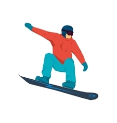 Snowboarder in jump vector