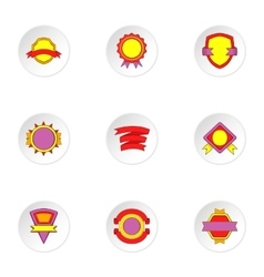 Tag icons set cartoon style vector image vector image