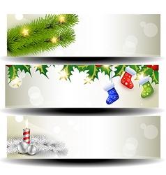 three christmas headers vector image vector image