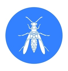 Wasp icon in black style isolated on white vector