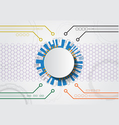 White abstract futuristic technology vector