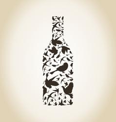 Wine a bird vector image vector image