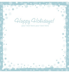 New year christmas background with snowflakes vector