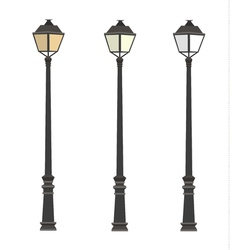 Lamppost lanterns street lights lamp post vector