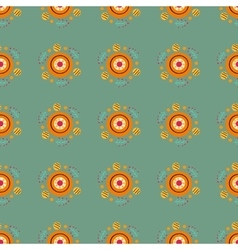 Seamless pattern with in russian dymkovo style vector