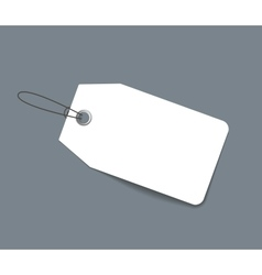 Blank paper price tag or label isolated vector