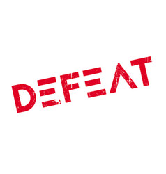 Defeat rubber stamp vector