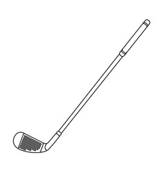 Putter for golfgolf club single icon in outline vector