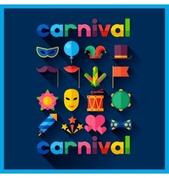 Celebration festive background with carnival flat vector