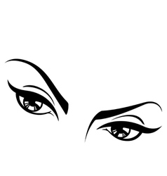 Female eyes set two vector