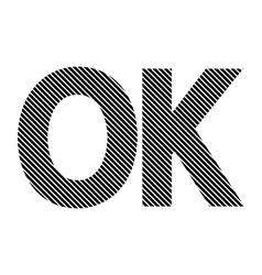 Ok sign on white vector