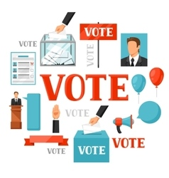 Vote political elections concept for vector image