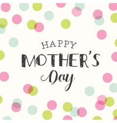 Mothers day card background polka dot vector