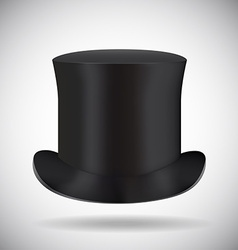 Black top hat isolated on white vector