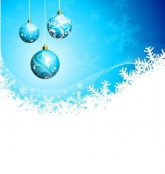 Christmas illustration with glass balls vector