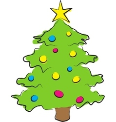 Simple of colored christmas vector