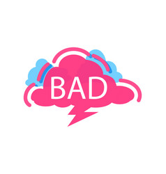 Bad speech bubble with expression text vector
