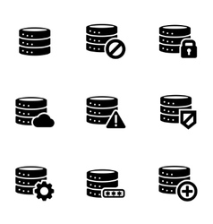 black database icon set vector image