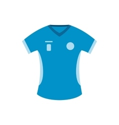 Blue baseball t-shirt flat icon vector