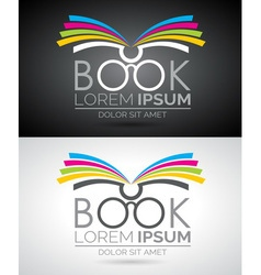 book logo Icon template for education or company vector image