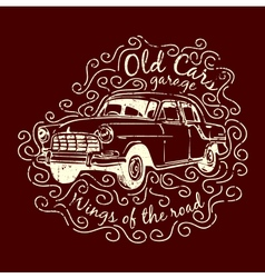 Car t-shirt design vector