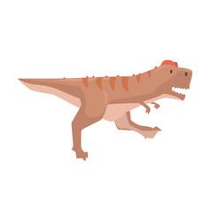 Cartoon tyrannosaurus dinosaur character jurassic vector