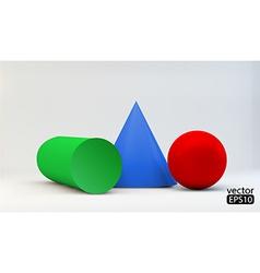 Composition of 3d geometric primitives vector