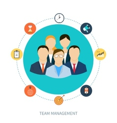 Concept of human resources and teamwork vector image vector image