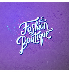Fashion boutique concept on abstract violet vector