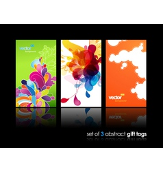 flower gift cards vector image vector image