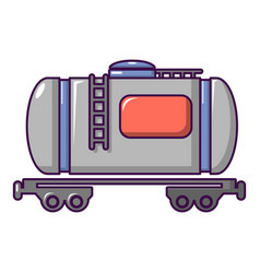 Gasoline railroad tanker icon cartoon style vector