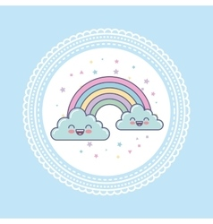 hand draw cute clouds vector image