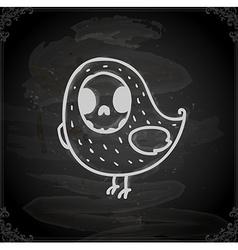 Hand Drawn Bird Skeleton vector image vector image