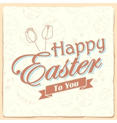 Happy Easter typography background vector image