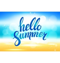 hello summer background Hello summer vector image