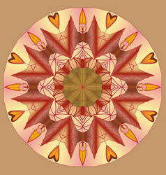 mandala round ornament patternelement for design vector image vector image
