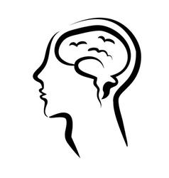 mans head vector image vector image