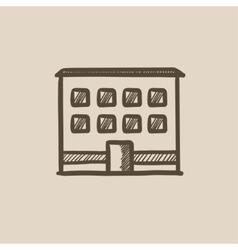 Office building sketch icon vector image vector image