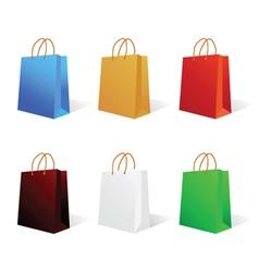 Paper bag in six color vector