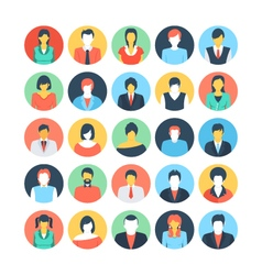 People Avatars Colored Icons 3 vector image vector image