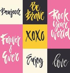 Romantic quotes vector