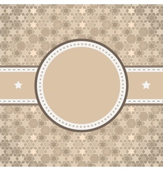 rounded retro vintage label on starry background vector image vector image