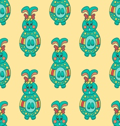 Seamless pattern with Easter bunny-7 vector image vector image