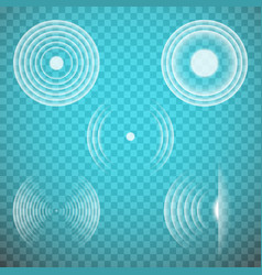 Set of isolated transparent sound waves vector