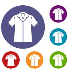 shirt polo icons set vector image vector image