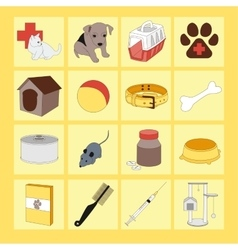 Veterinary pet icons vector image